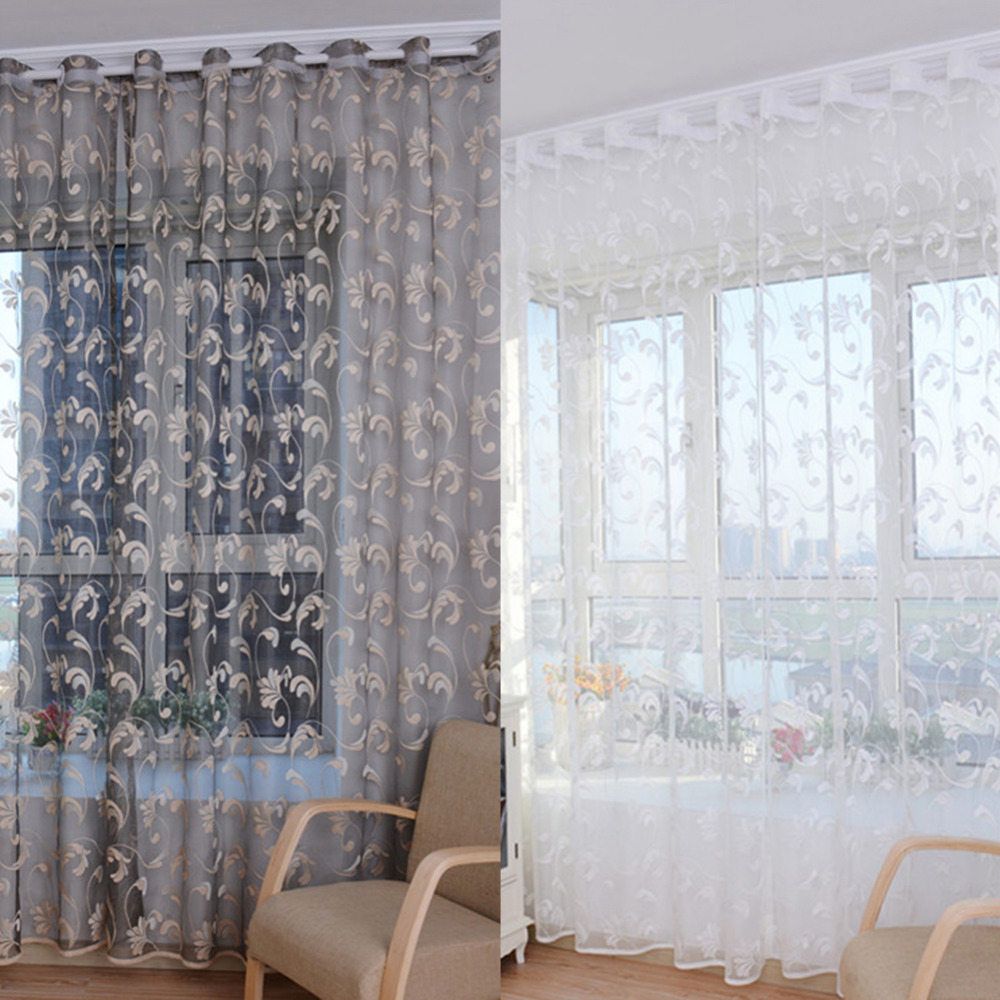 Tulle Curtains Window Treatments Voile Net Curtain