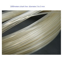 1 to 3 mm diameter nylon line 500 or 1000 meters long suitable for ocean boat fishing tough shark line