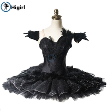 Performance Black Swan Lake Guards Professional Ballet Tutu Women Classical Stage Costumes Competitons BT9125