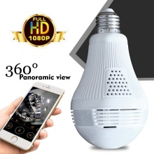 HD 1080P Bulb Light Wireless IP Camera 2MP Mini Lamp Infrared Cam Wi-FI FishEye 360 Degree Panoramic CCTV Home Security
