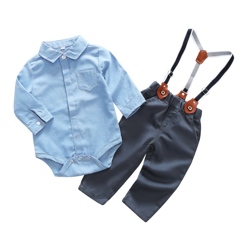 Baby Boys Clothes Set Infant Clothing Long-sleeved Shirt+Pants 2PCS Newborn Boy Set Gentleman Newly Fashion Outfits