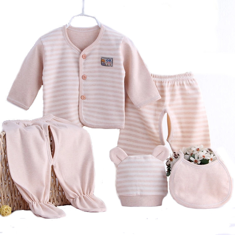 Organic cotton baby clothing for newborns clothes 5 pieces ...