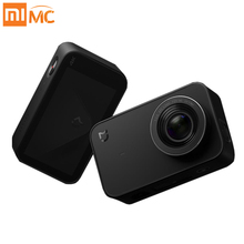 Inglês Versão Xiaomi Mijia Ação Mini Câmera Portátil 4 K Esporte Gravação de vídeo de Grande Angular 145 2.4 polegada Tela de Toque Wi-fi APP