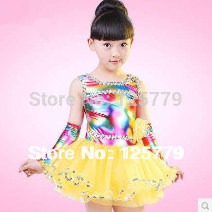 Free Shipping +Fast Delivery Child Performance Wear Costume Female child Princess Dress Tulle Ballet Dance Stage Dress
