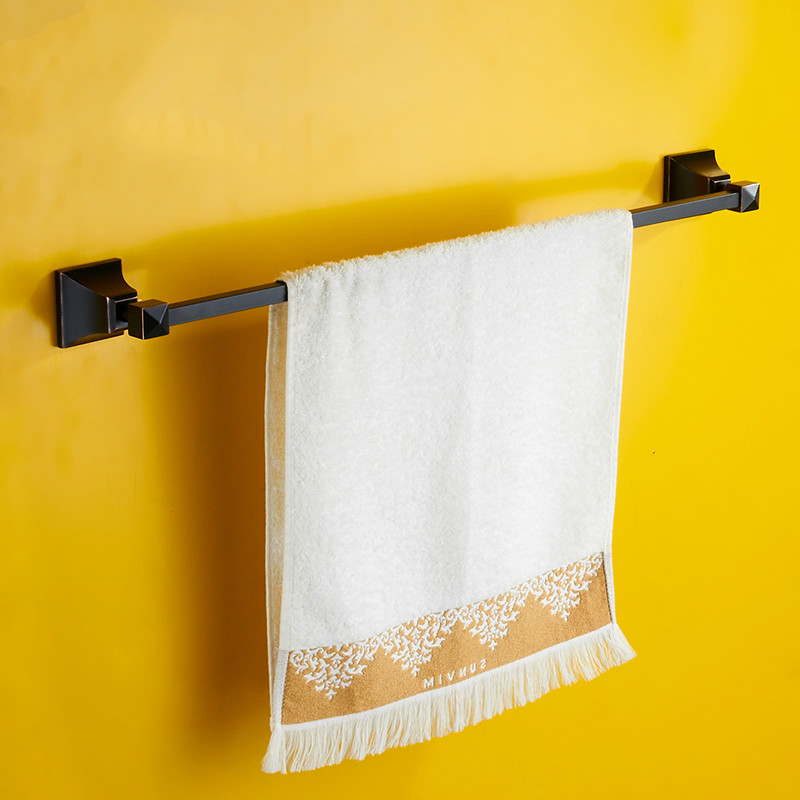 Modern New Design Black Plating Towel Bar 304 Stainless Steel Brushed Orb Towel Rack 23'' Towel Holder Bathroom Accessories J5 стоимость