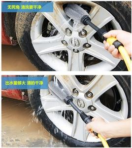 Image 3 - Brosse de lavage automatique pour roues de voiture, Rotation à 360 degrés, outil à main propre