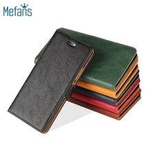 Mefans Fashion oil skin flip wallet leather case for huawei p9 Lite case