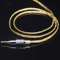 6 share 5N oxygen-free copper OFC silver plated 0.78mm ie80 im50 A2DC upgrade line gold/wihte