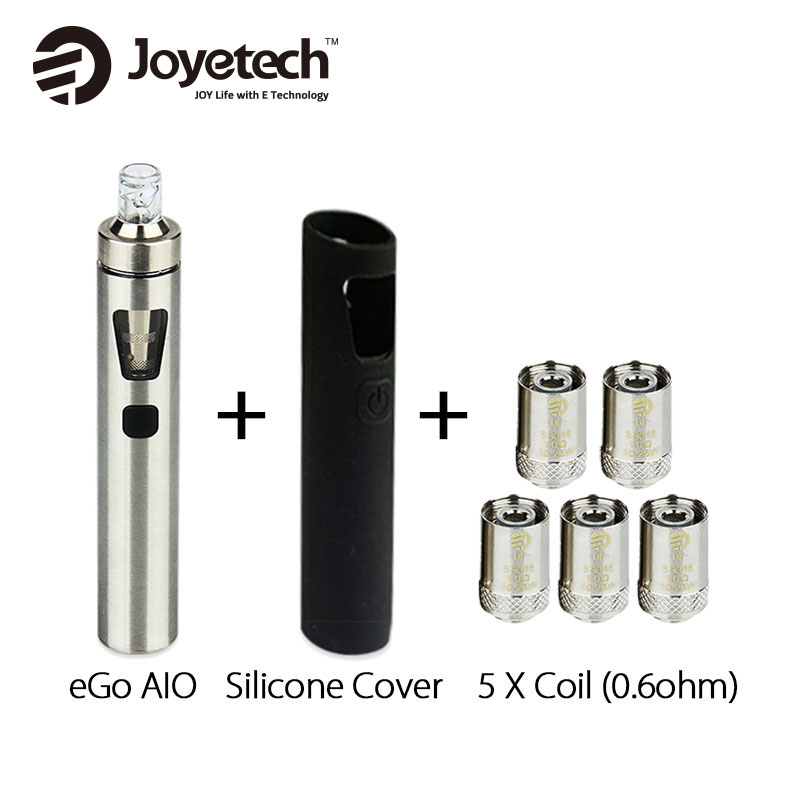 Joyetech EGo AIO 1500mAh All In One Kit 2ml 0.6ohm Vaporizer with AIO Silicone Case Cover Electronic Cigarette 100% Original