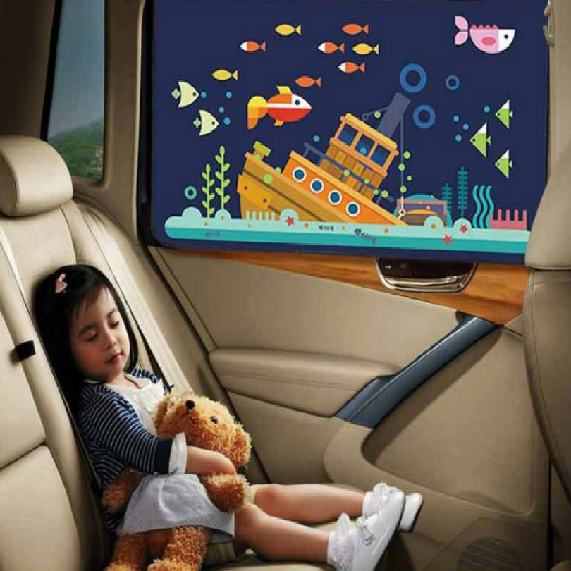 hongliangyang sunshade car side sunshade cartoon coche proteccion sol cortinas auto parasol coches lateral Suckercar window