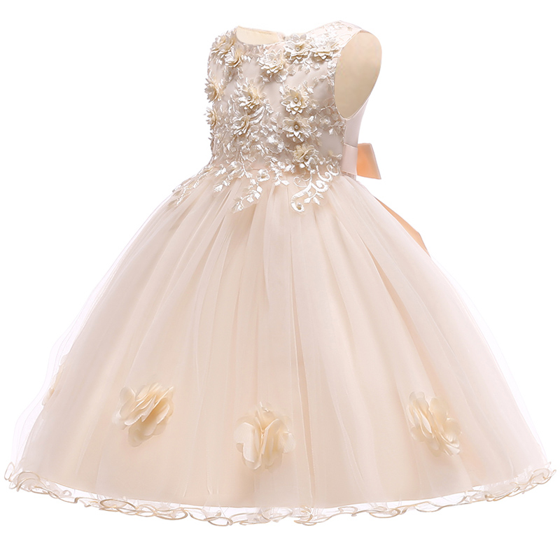 Summer Flower Girl Dresses For Little Girl School Wear Children Wedding Holiday Clothing Kids Party Dresses For Girl 8 10T 4