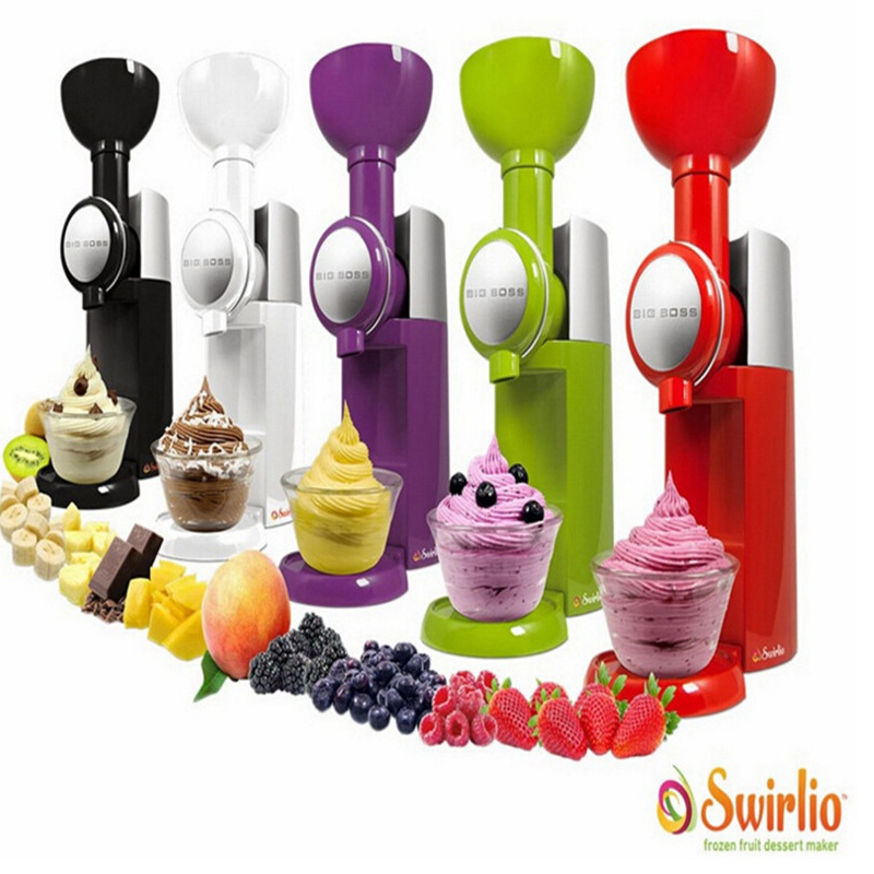Big Boss Swirlio Frozen Fruit machine icecream home full automatic mini slush machine household ice cream maker комбо для гитары boss katana mini