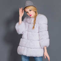 New 2016 Womens Winter Luxury Natural Fox Fur coats Top quality new arrival Real Fur Fox Coat colete de pelo feminino