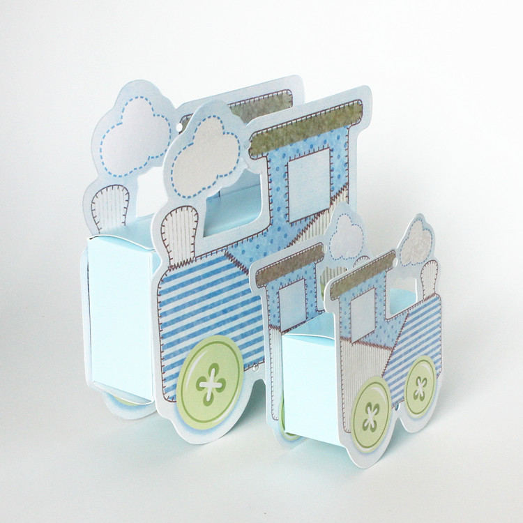 paper train candy box baby shower favors baptism nursery