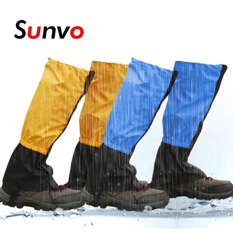 Sunvo Waterproof Legging Leg Cover for Men Women Snow Ski Hiking Camping Climbing Windproof Warmer Gaiters Leggings Shoe Covers
