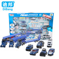 Children  Metal alloy car model car toy police and traffic simulation suite Boxed Christmas gift Free shipping