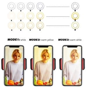 Image 2 - Wrumava 2 ב 1 LED טבעת אור עם Lazy טלפון Selfie מחזיק מחזיק 3 בהירות מנורת שולחן סוגר עבור טלפון אנדרואיד iPhone