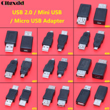 цена на Cltgxdd 1Pcs OTG 5pin F/M Mini USB Micro USB 2.0 Adapter Converter USB Male to Female Micro USB Adapter For Car MP3 Phones Conve