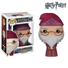 NEW Genuine FUNKO POP 10cm  Harry Potter Albus Dumbledore action figure Bobble Head Q Edition new box for Car Decoration