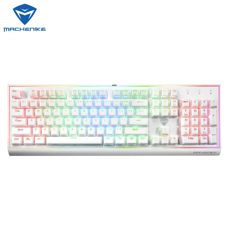 Image 3 - Machenike mechanical keyboard  cherry axis green axis black axis tea axis RGB eSports  gaming keyboard-in Keyboards from Computer & Office
