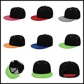 Snapback Cap Colors Unisex Plain Baseball Cap Hip-Hop Adjustable Eaked Hat Visor 012