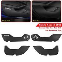 4Pcs PVC Interior Side Door Anti Kick Pad Protective Trim For Honda Accord 2018 Interior Accessories Interior Mouldings New