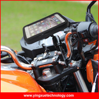 Universal Adjustable Cell Phone Holder Motorcycle Handlebar Phone Mount Waterproof Phone Case For IPhone 6 Samsung