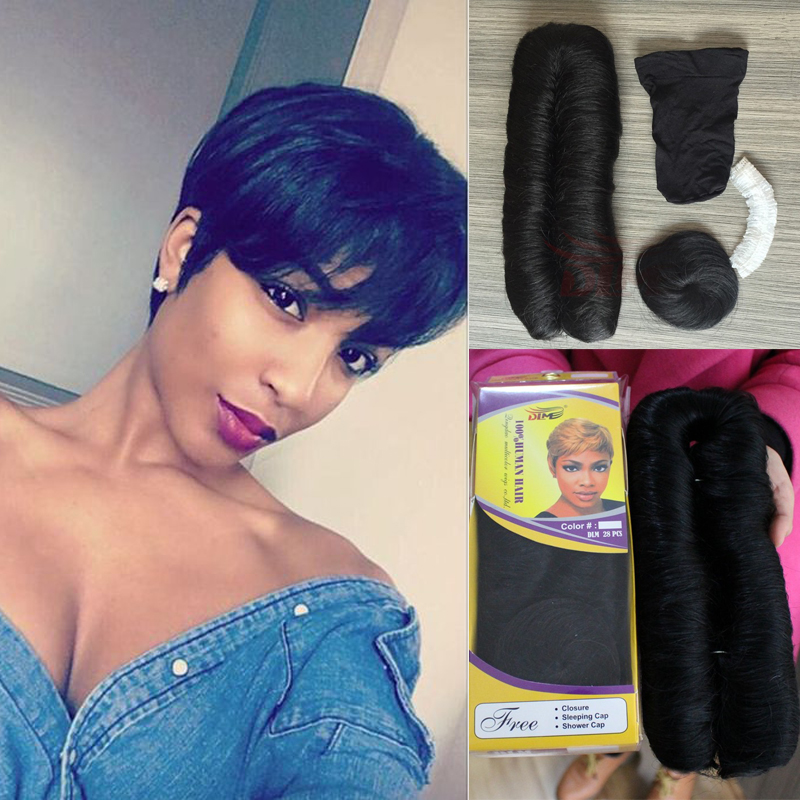28 pieces short real human hair extensions malaysian virgin hair 28 pieces short real human hair extensions malaysian virgin hair short bump weave short human hair weave with free closure in hair weaves from hair pmusecretfo Choice Image