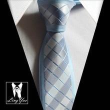 Stylish slim tie with chequers plaids necktie