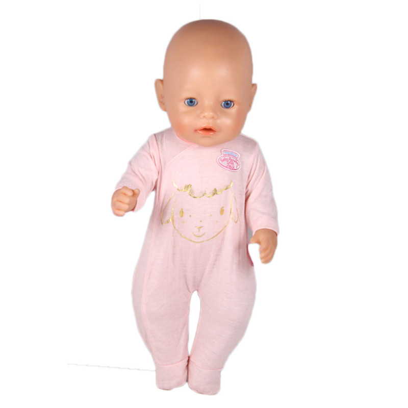 sport Pink Jumpsuit doll clothes Wear fit 43cm Baby Born zapf, Children best Birthday Gift(only sell clothes) 3color choose high quality dress wear fit 43cm baby born zapf children best birthday gift only sell clothes