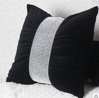 #329 Creative super luxury diamond belt velvet fabric butterfly design cushion no filling sofa bed home room Dec