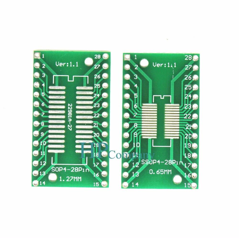 1PCS Pitch IC adapter Socket  Adapter plate  PCB SSOP28