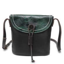 Nuleez Genuine Leather Shoulder Handbags Women Cow Leather Messenger Bags Bucket Crossbody Green Black Summer China Handbag 1219