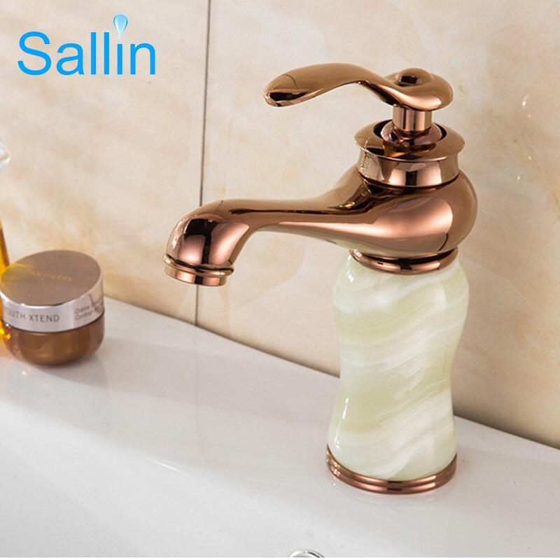 Nouveauté de luxe or Jade Antique en laiton salle de bain bassin robinet froid chaud lavabo mélangeur bassin évier robinet 4 couleurs