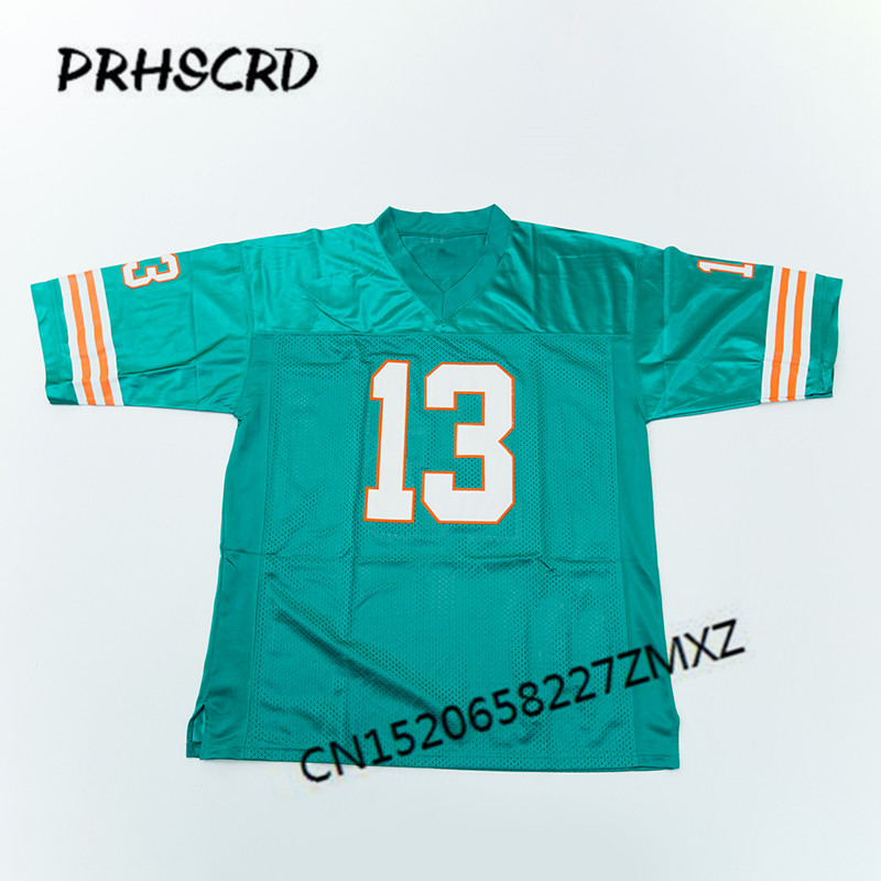 Retro star #13 Dan Marino Embroidered Throwback Football JerseyRetro star #13 Dan Marino Embroidered Throwback Football Jersey