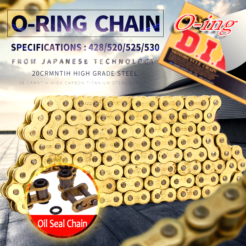 O ring seal DID 428 520 525 530 VX 120L 136L chain for Universal honda yamaha kawasaki suzuki ATV dirt bike off road motorcycle did 520 vx 120l o ring seal chain for dirt bike atv quad mx motocross enduro supermoto motard racing off road motorcycle