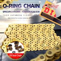 O ring seal DID 428 520 525 530 VX 120L 136L chain for Universal honda yamaha kawasaki suzuki ATV dirt bike off road motorcycle