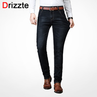 Drizzte Men S Jeans Warm Thickening Stretch Denim Jeans Slim Fit Trousers Pants Jeans Men Cotton