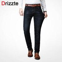 Drizzte Men S Jeans Warm Thickening Stretch Denim Jeans Slim Fit Trousers Pants Jeans Men Cotton