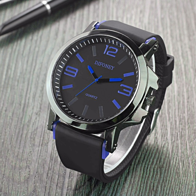 2017 Top Brand Relogio Masculino Big Dial Men's Business Watch Fashion Luxury Casual Watches Men Quartz Wristwatches