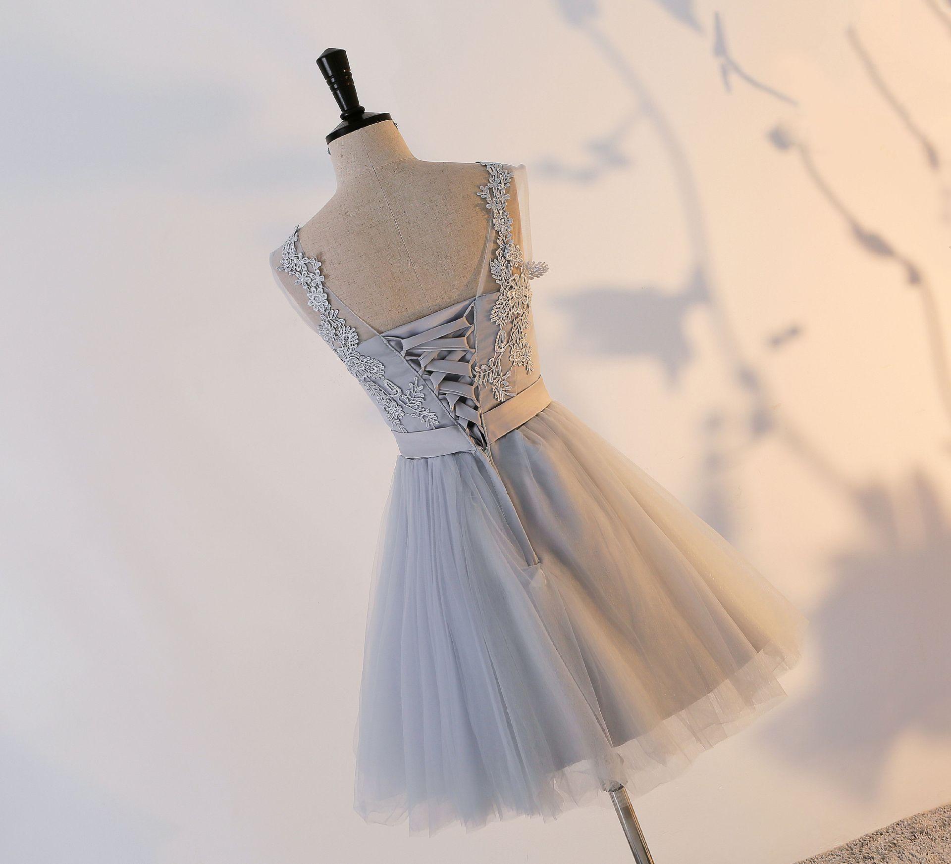 Colher Lace Up Mini Vestidos De Festa