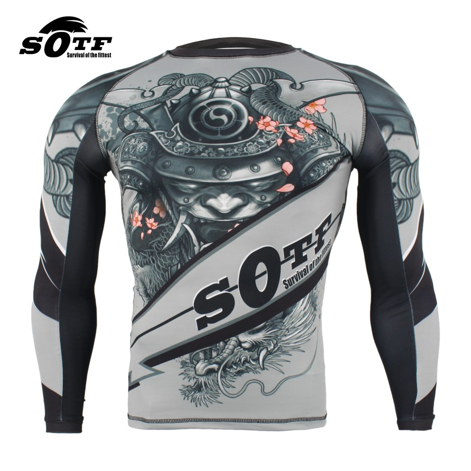 SOTF MMA pattern sport training wear breathable clothing MMA boxing clothing muay thai boxing shorts muay thai clothing