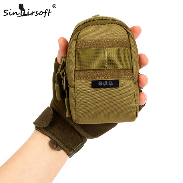 SINAIRSOFT Men Nylon Molle Tactical Military Army Bag Waist Bag Wear-resistant Pouch Travel Mobile Phone Accessories Sports Bag