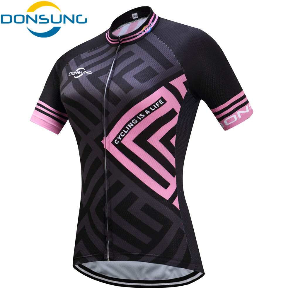 DONSUNG Breathable Cycling Jersey Women Summer Mtb Cycling Clothing Bicycle Bike Jersey Short Ropa Ciclismo Maillot Bike Clothes short sleeve breathable mtb bike clothing women bicycle clothes ropa ciclismo 100% polyester cycling jersey set maillot ciclismo