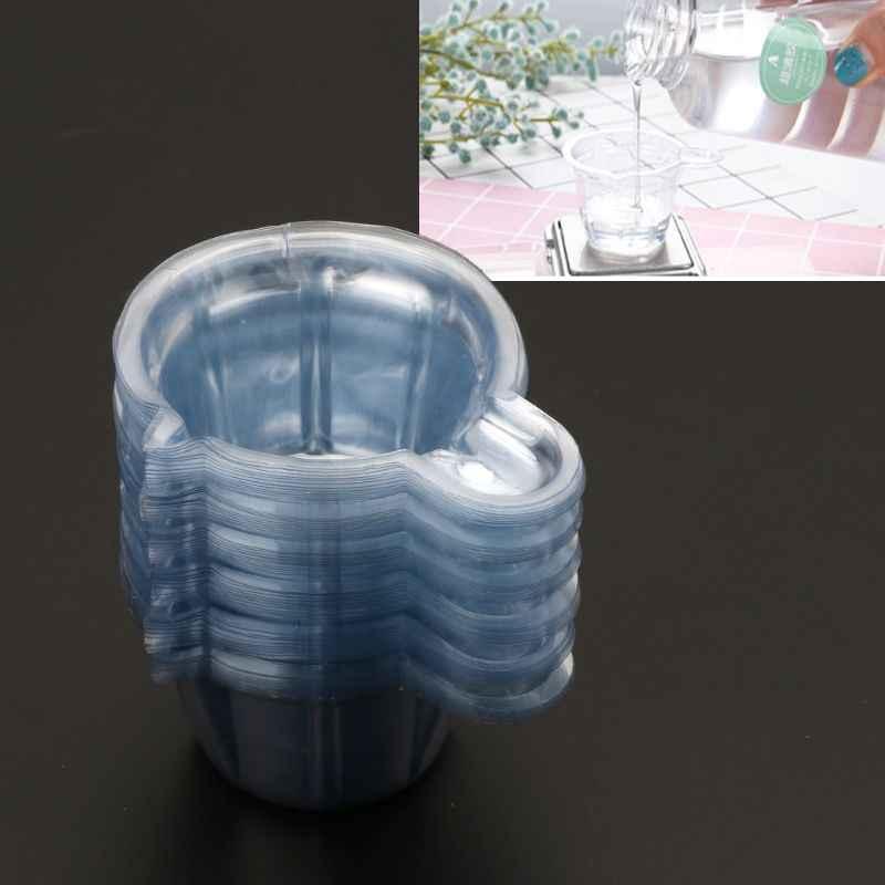 50 шт. 40 мл пластиковые одноразовые чашки диспенсер DIY эпоксидная Создание украшений из каучука инструмент