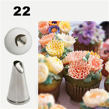 TTLIFE #22 Daisy Flower Cream Cakes Decorating Tips Stainless Steel Icing Nozzles Baking Tools For Cupcakes Dessert Decorators
