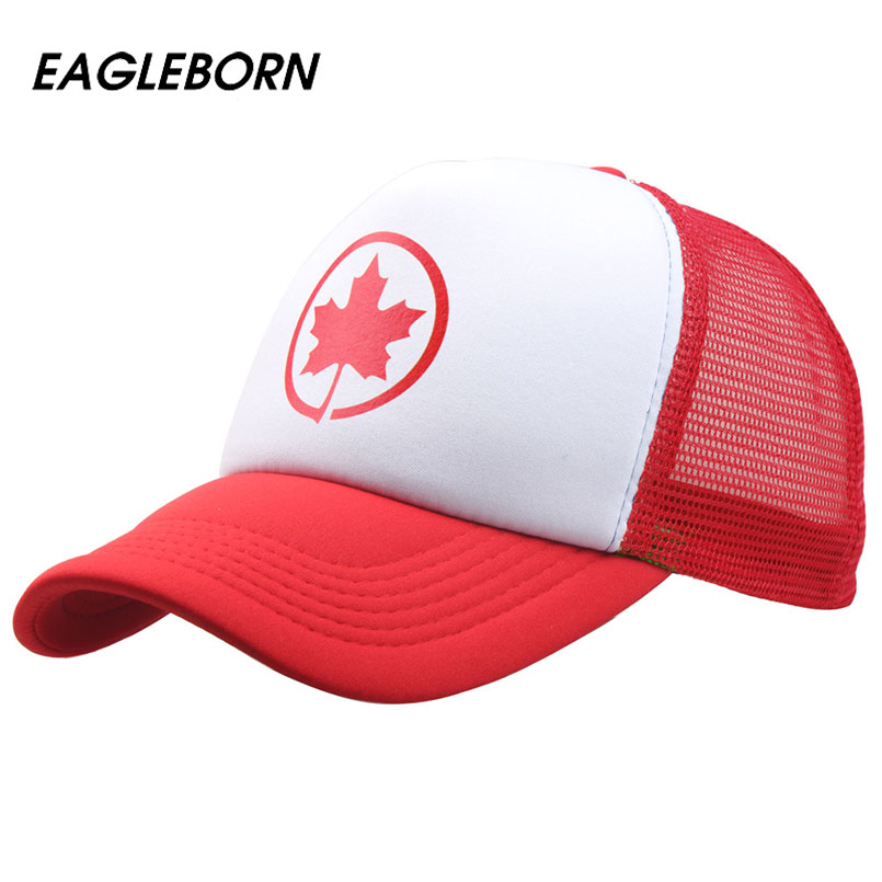 [EB] Cap Women Summer 2019 Canada Cap Hats For Women Men Baseball Mesh Cap Hat Snapback Baseball Caps Men Women Casual Svart Pink