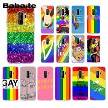 Babaite Gay Lesbian LGBT Rainbow Pride ART Phone Case for Samsung Galaxy S8 S7 edge S10 Plus S10E S10Lite S6 S9plus(China)