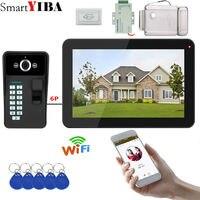 9 дюймов Wi Fi/Проводной Видео Домофонные визуальные видеодомофон двухстороннее аудио домофон отпечатков пальцев с Водонепроницаемый открыт