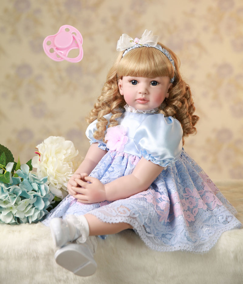 60cm Silicone Reborn Baby Doll Toys 24inch Vinyl Princess Toddler Girl Babies Doll Birthday Gift Play House Toy Like Alive Bebe 60cm silicone vinyl reborn girl baby doll toys 24inch princess toddler babies dolls child fashion birthday gift play house toy